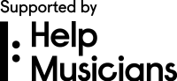 Help Musicians Logo (SB) CMYK Black